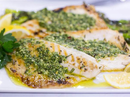 Sweet Fennel and Parsley Pesto baked Fish