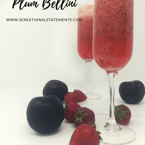 Strawberry Plum Bellini