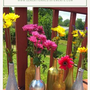 Glitter Wine Vases