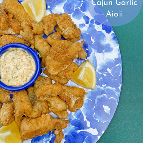 Catfish Nuggets w/ Cajun Garlic Aioli