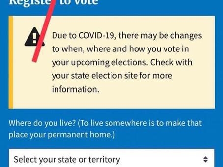 التسجيل في الانتخابات الامريكية