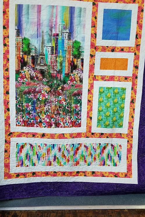 """Paris quilt - 62"""" x  79"""""""