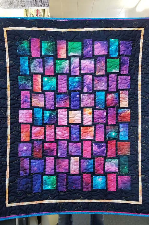 """Shattered Crystals quilt - 36"""" x 45"""""""