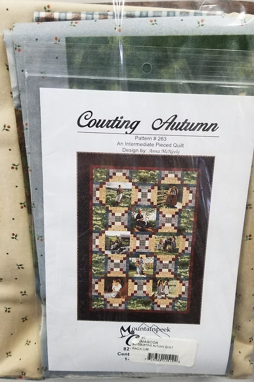 "Courting Autumn quilt kit - 42 1/2"" x 58 1/2"""