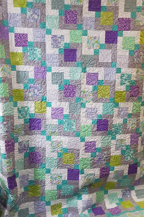 """Disappearing 9 Patch quilt- 88"""" x 100"""""""