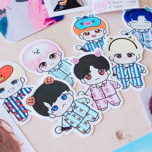 BTS Pajama Party Sticker Set