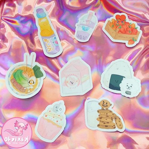 BT21 Food Sticker Set