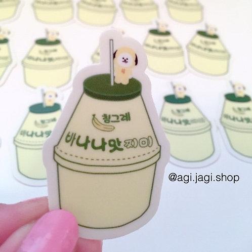 Banana Milk Chimmy Sticker
