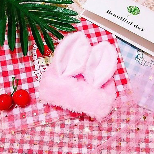 "Pink Bunny hat for 20"" K-Pop Plush Dolls"
