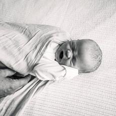 Baby wrap yawning