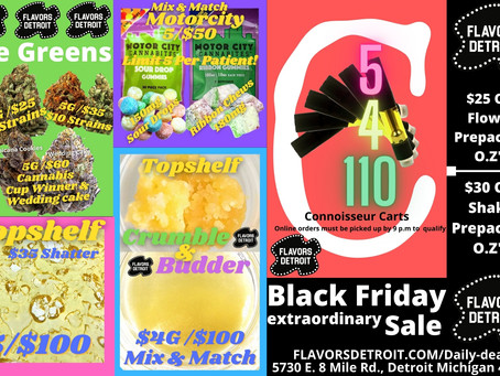 Top Shelf Black Friday Specials at Flavors Detroit