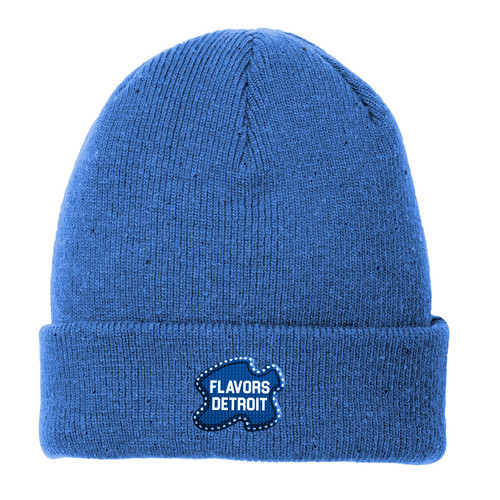 Flavors Detroit™ Speckled Beanie (Blue)