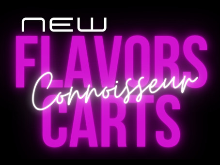 The New and Improved Connoisseur Carts have arrived!