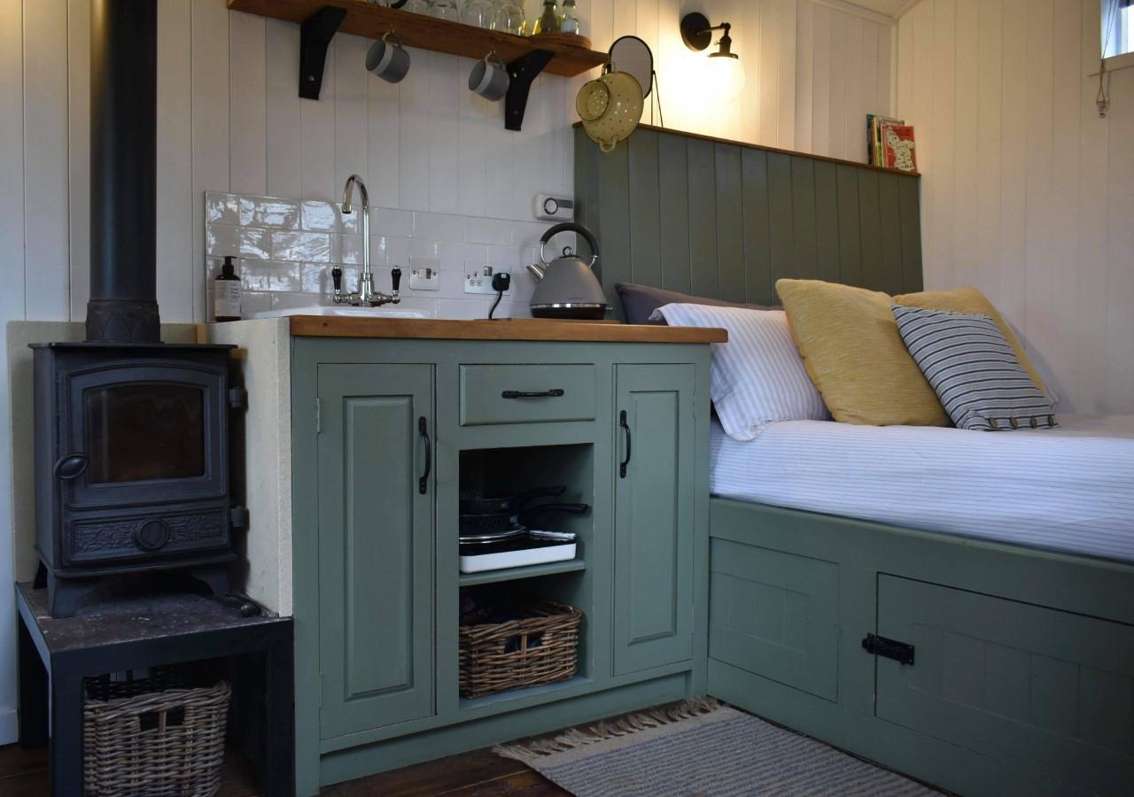 Interior of Bertie's Hut