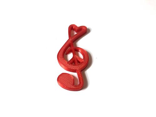 Houslový klíč + Peace sign