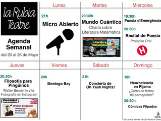 Agenda Semanal del 20 al 26 de mayo