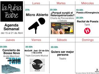 Agenda Semanal del 15 al 21 de Abril