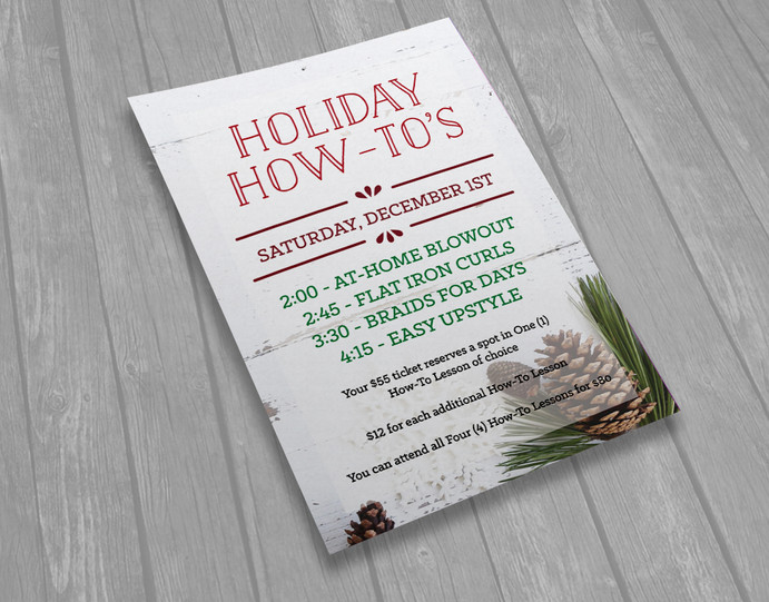 Holiday How-To's Event Flyer