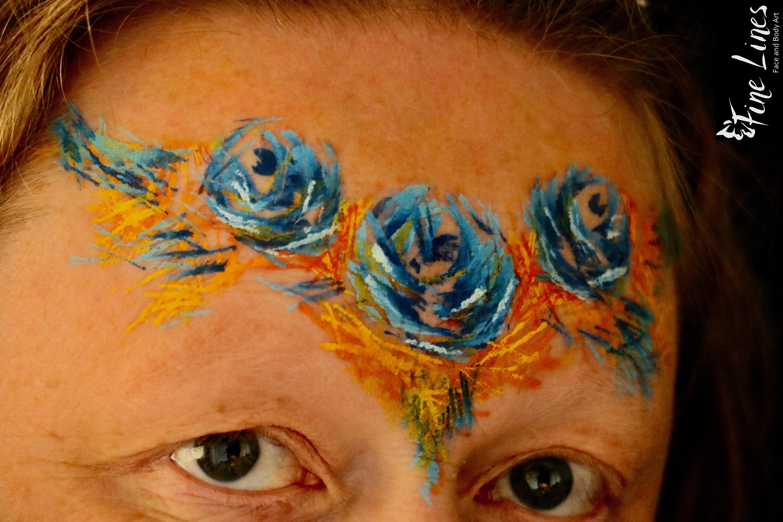 Blauen Rosen Kinderschminken Leipzig