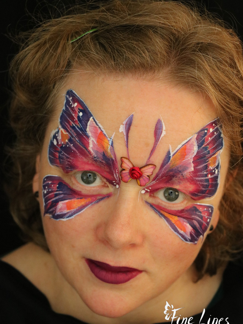 Schmetterling Kinderschminken Leipzig