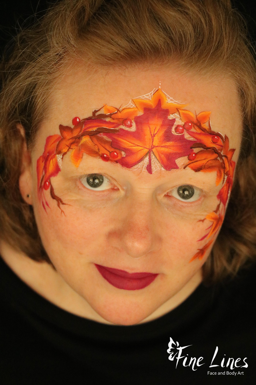 Herbstkrone Kinderschminken