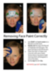 How to remove facepaint poster_000001.jp