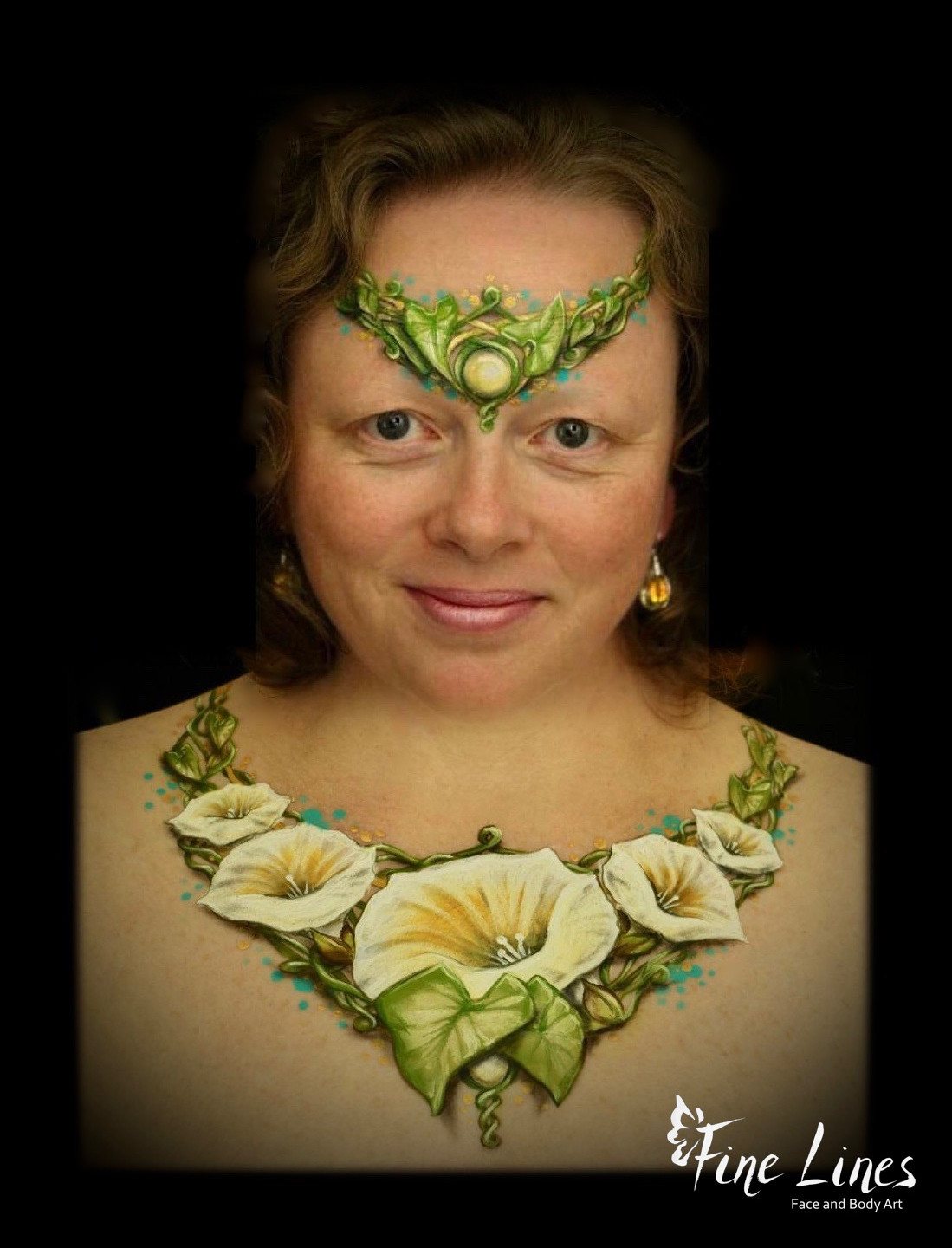 Bind Weed Body painting