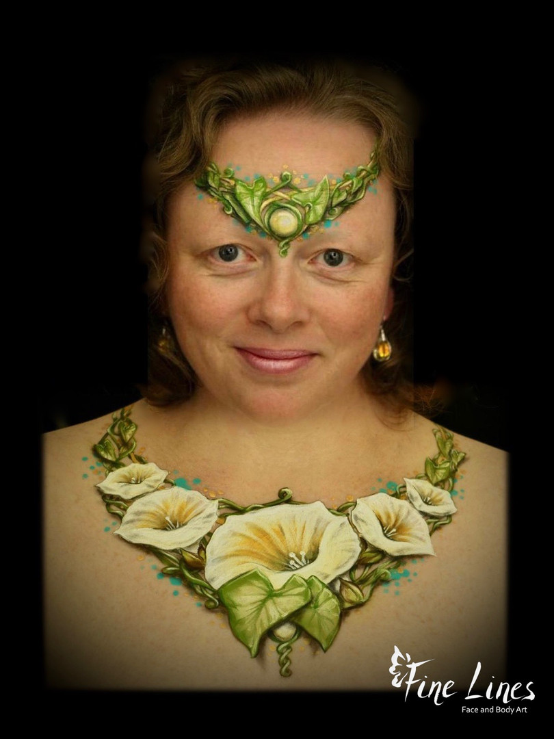 Flower jewellery body painting