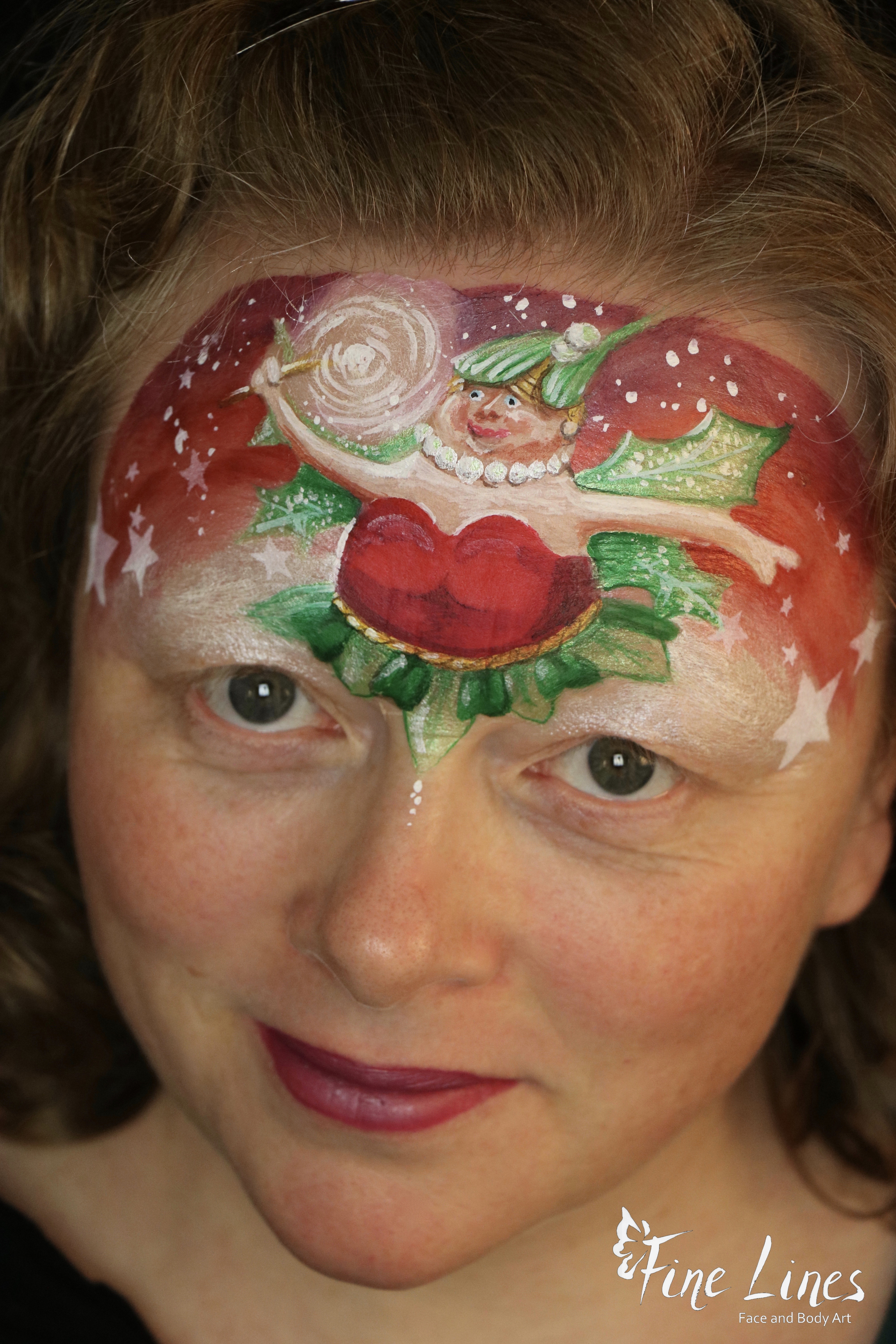 Christmas Fairy Face painting