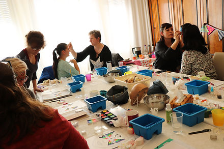Kinderschminken workshop in Leipzig