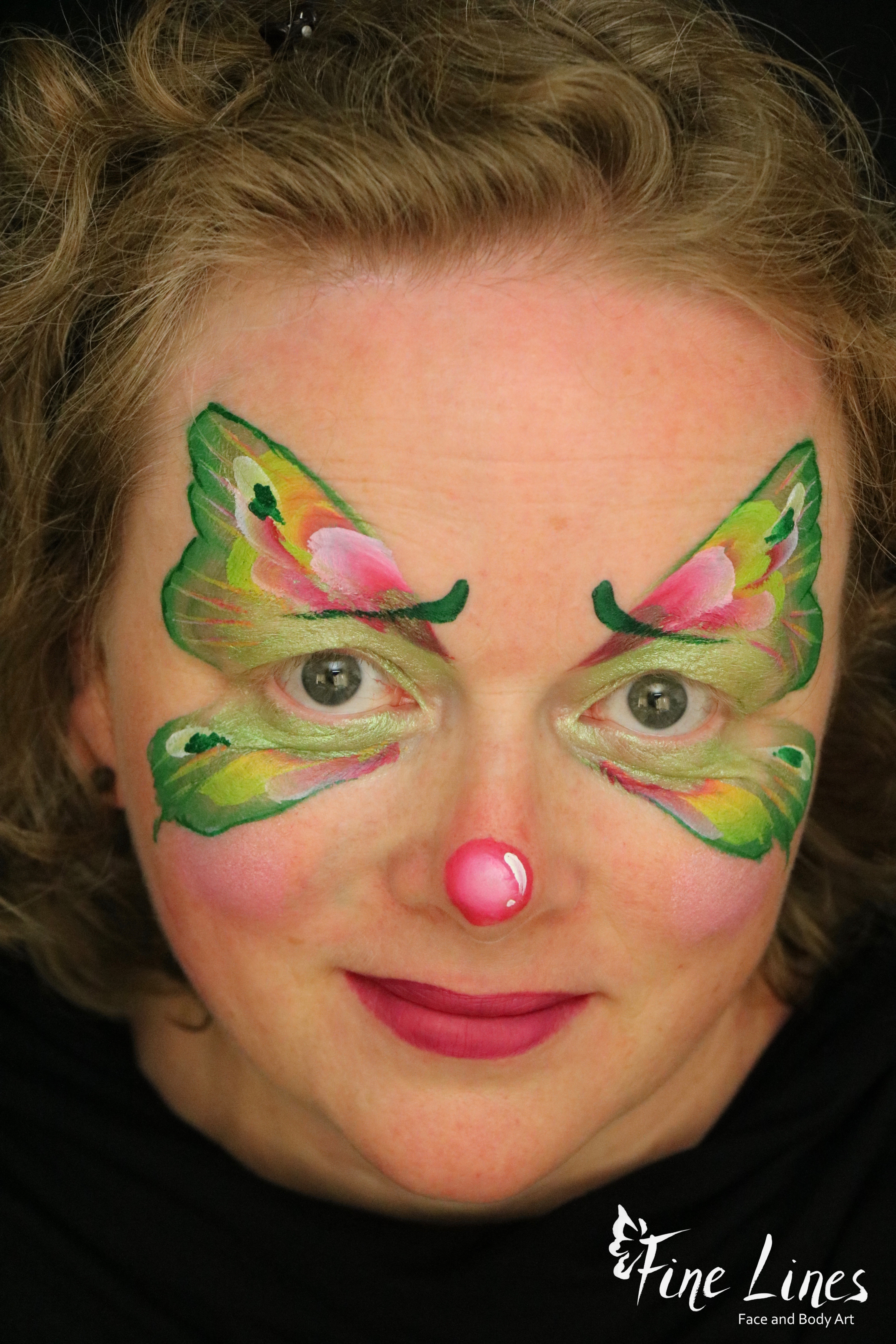 Clownschmetterling Kinderschminken
