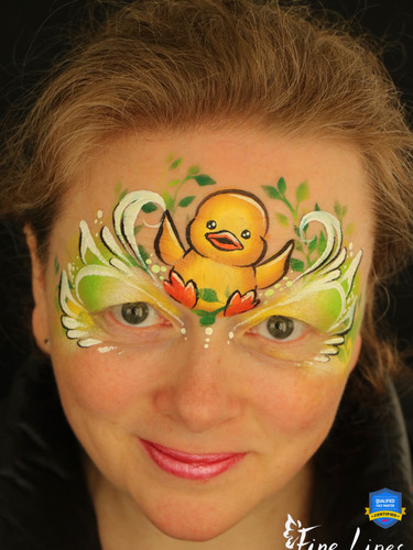 Spring duckling face painting