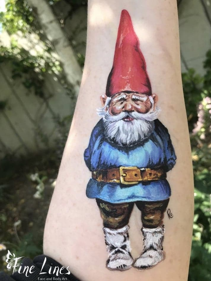 David the Gnome Körpermalerei