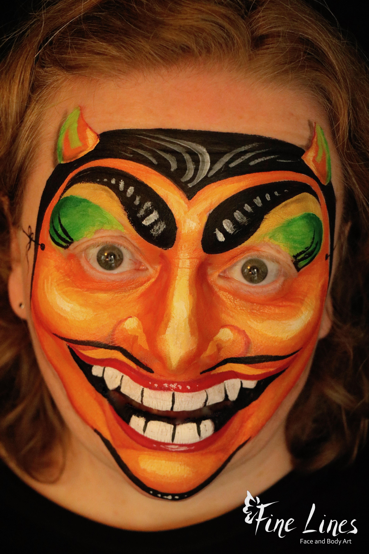 Halloweenmaske Gesichtsmalerei