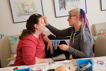 Face painting workshop in Leipzig