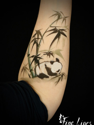 Panda Malerei Kinderschminken Leipzig