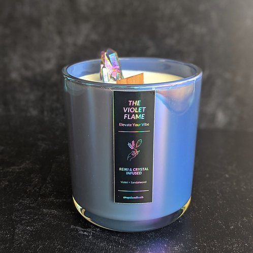 The Violet Flame candle
