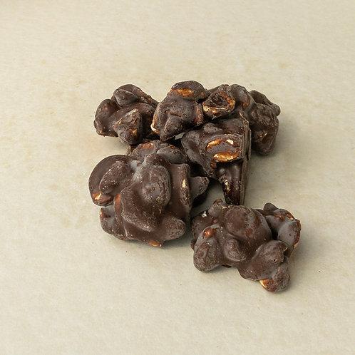 Erdnussberge in zartbitter Schokolade 200 Gramm