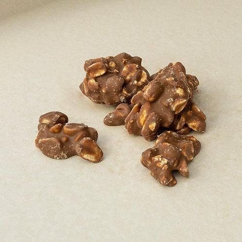 Erdnussberge in Milchschokolade 200 Gramm