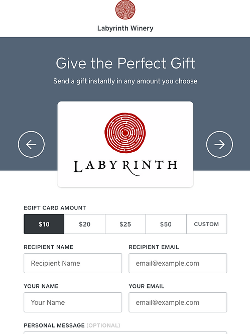 GIFT E-CARD (Click Link Below!!! Do NOT Add to Cart)