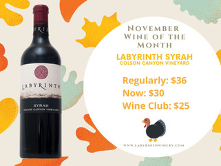 November Wine of the Month