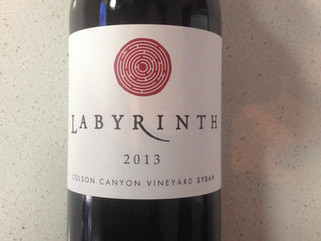 Wine of the Month - March 2013 Labyrinth Syrah - Colson Canyon