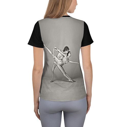 """Étoile Ballet Theatre """"Dancers couple"""" Women's Athletic T-shirt"""