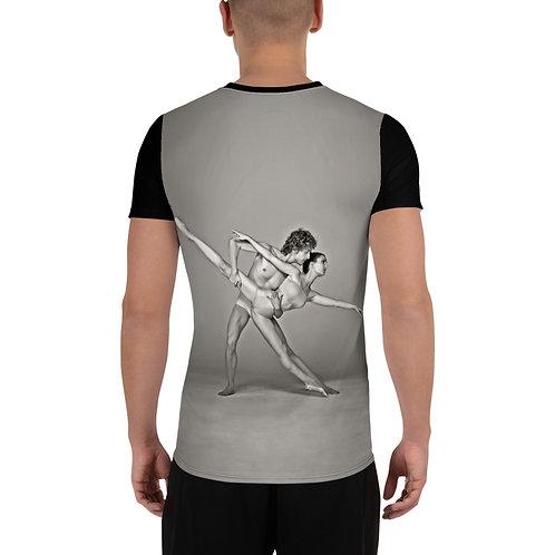 """Étoile Ballet Theatre """"Dancers couple"""" Men's Athletic T-shirt"""