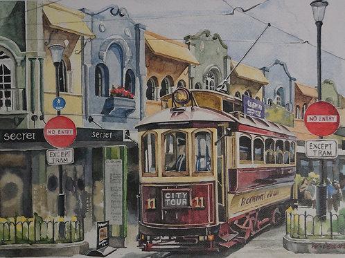 Christchurch Tram – Wonhee Dueart