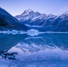 Winter's Blue at Hooker Lake