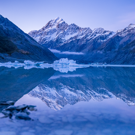 Winter's Blue at Hooker Lake
