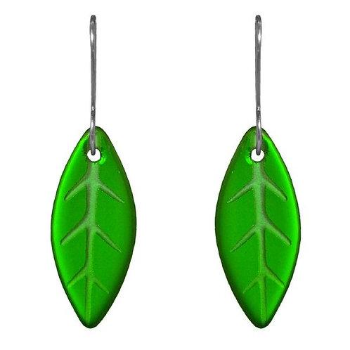 Glass Leaf Earrings – Stone Arrow