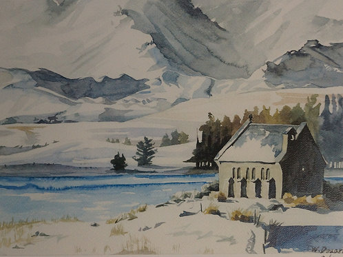 Church of the Good Shepherd with Snow – Wonhee Dueart