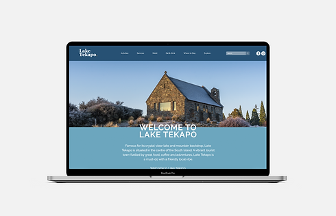 website portfolio lake tekapo nz